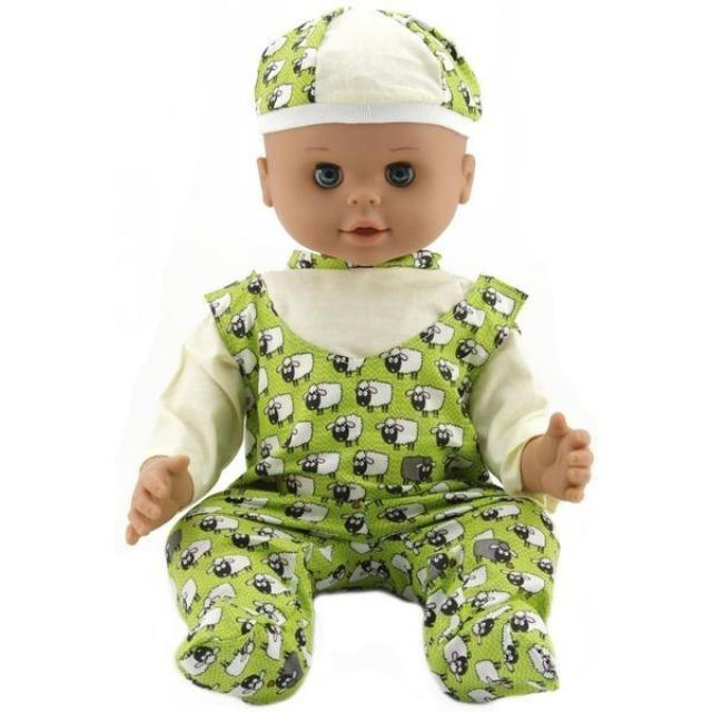 Obrázek produktu HAMIRO Panenka 50cm, v zelených dupačkách