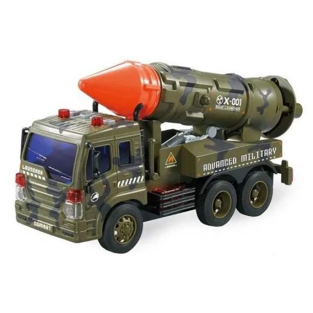 Obrázek produktu Vojenské auto s raketou, světlo, zvuk