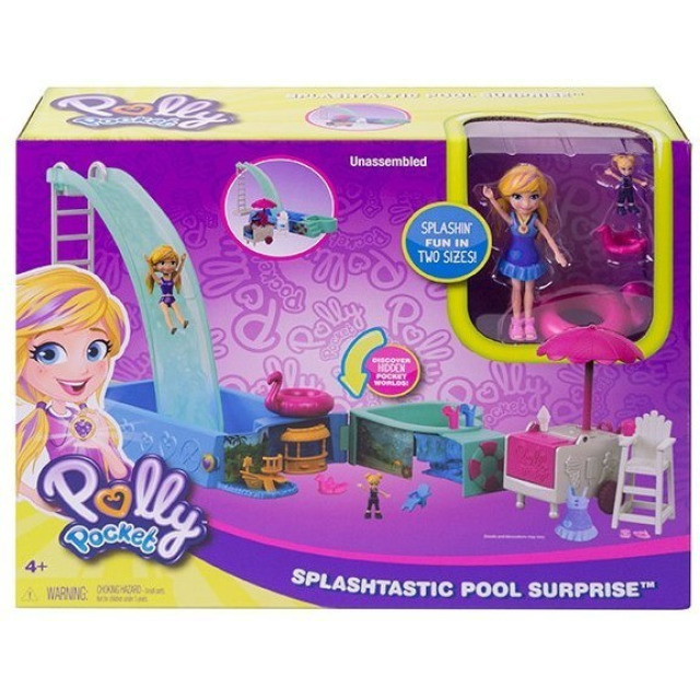 Obrázek produktu Polly Pocket Bazén se skluzavkou, Mattel FTP75