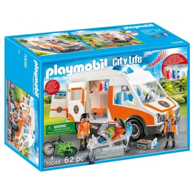 Obrázek produktu Playmobil 70049 Sanitka s majákem, světlo, zvuk