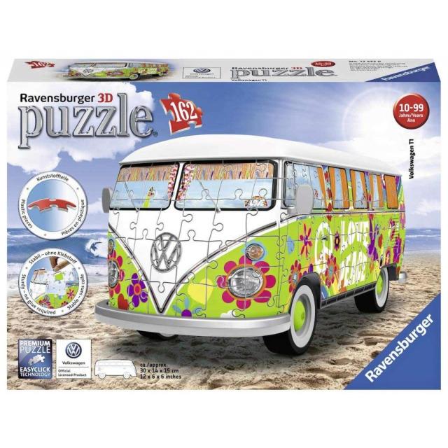 Obrázek produktu Ravensburger 12532 Puzzle 3D VW Autobus T1 Hippie 162 dílků