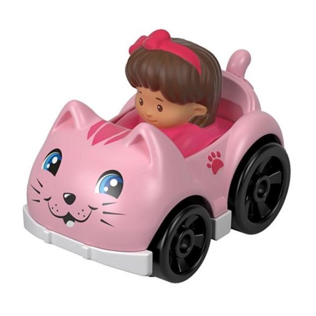 Obrázek produktu Little People mini autíčko Růžová kočička, Fisher Price FHB96