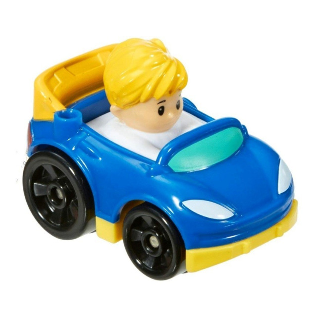Obrázek produktu Little People mini autíčko Závodník modrý, Fisher Price DRG96
