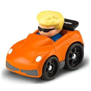 Obrázek 1 produktu Little People mini autíčko Eddie oranžové, Fisher Price BGC64