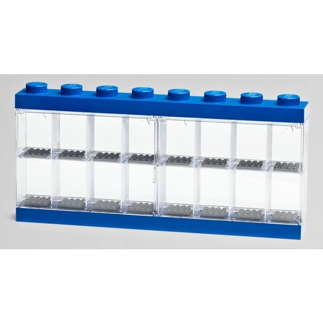 Obrázek produktu LEGO vitrínka na 16 minifigurek modrá