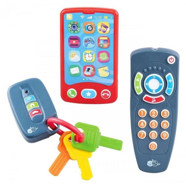 Obrázek produktu Baby Trio set Mobil, Ovladač, autoklíče, Play Go