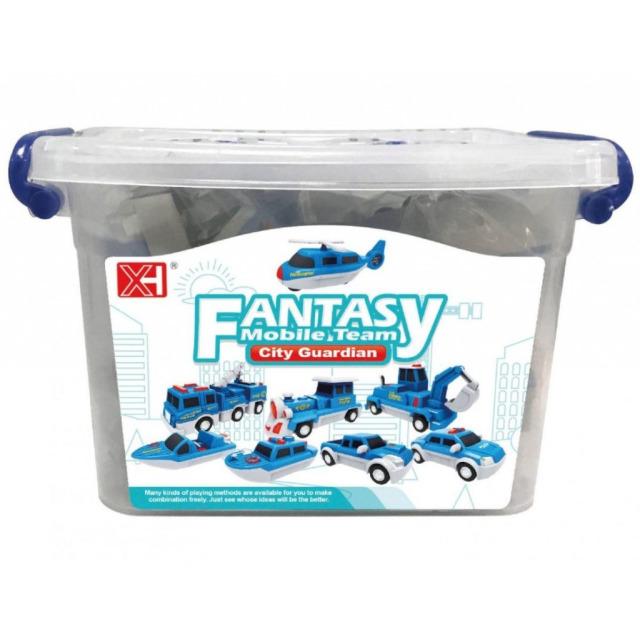 Obrázek produktu Fantasy mobile team, magnetická stavebnice vozidel v kufříku