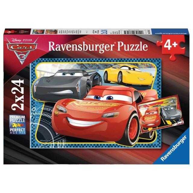 Obrázek produktu Puzzle Cars Dobrodružství McQueen 2x24 dílků, Ravensburger