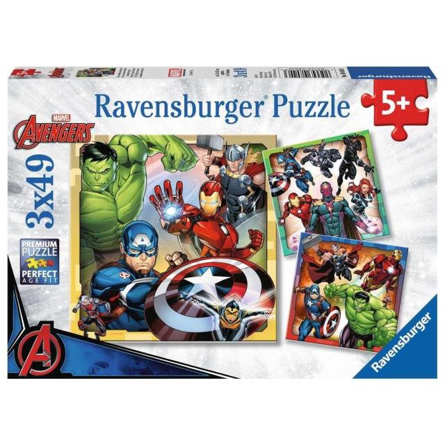 Obrázek produktu Ravensburger 08040 Puzzle Disney Marvel Avengers 3x49 dílků