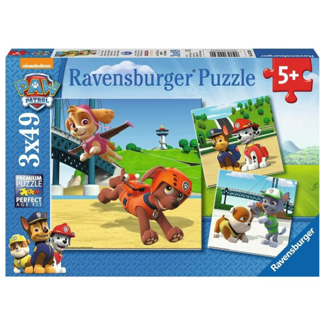 Obrázek produktu Ravensburger 09239 Puzzle Tlapková Patrola: Psí tým 3x49 dílků