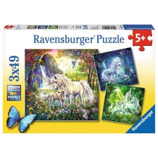 Obrázek 1 produktu Ravensburger 09291 Puzzle Jednorožci 3x49 dílků