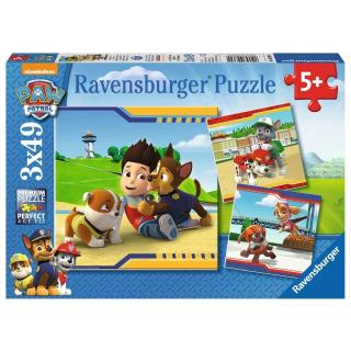 Obrázek 1 produktu Ravensburger 09369 Puzzle Tlapková Patrola: Chlupatí hrdinové 3x49 dílků