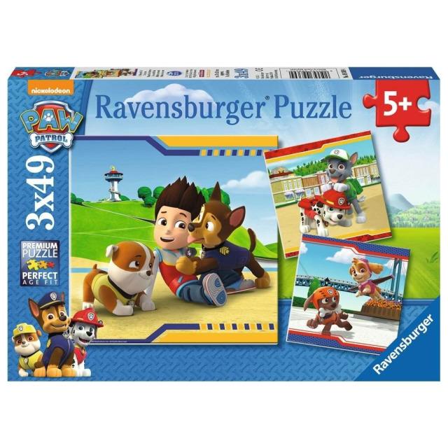 Obrázek produktu Ravensburger 09369 Puzzle Tlapková Patrola: Chlupatí hrdinové 3x49 dílků