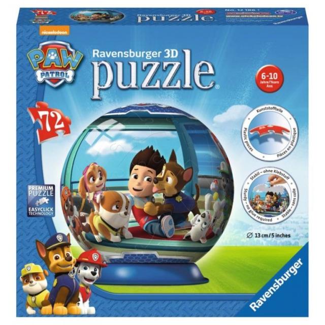 Obrázek produktu Ravensburger 12186 Puzzleball Tlapková Patrola 72 dílků