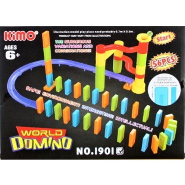 Obrázek produktu Kuličková dráha + domino, 56 ks