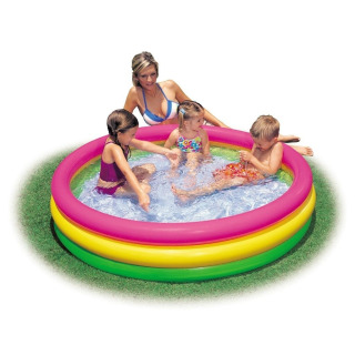 Obrázek 1 produktu Intex 57412 Dětský bazén duhový 114x25cm