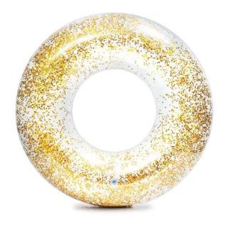 Obrázek 1 produktu Intex 56274 Kruh plovací flitrový 119 cm zlatý