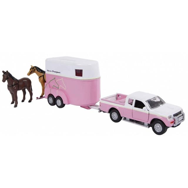 Obrázek produktu Mitsubishi pajero růžové s přívěsem pro koně