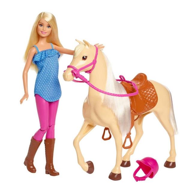 Obrázek produktu Barbie Panenka s koněm, Mattel FXH13