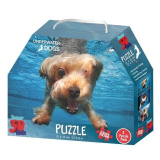 Obrázek 1 produktu 3D Puzzle Pejsci pod vodou 3v1