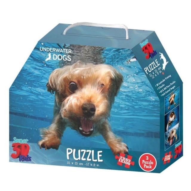 Obrázek produktu 3D Puzzle Pejsci pod vodou 3v1