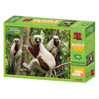 Obrázek 1 produktu 3D Puzzle Lemur 100 dílků