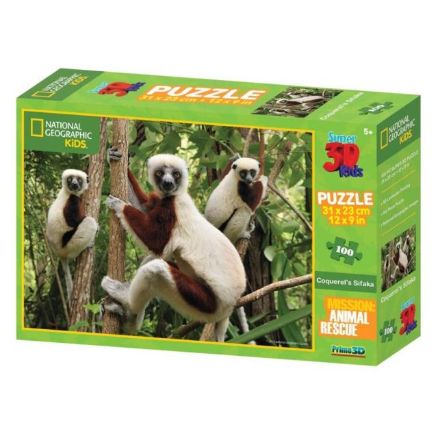 Obrázek produktu 3D Puzzle Lemur 100 dílků