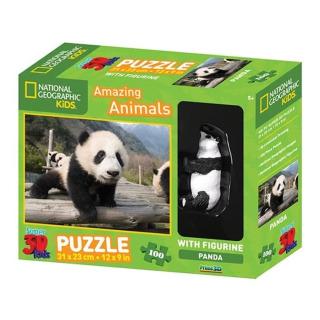 Obrázek 1 produktu 3D Puzzle Panda 100 dílků + figurka pandy