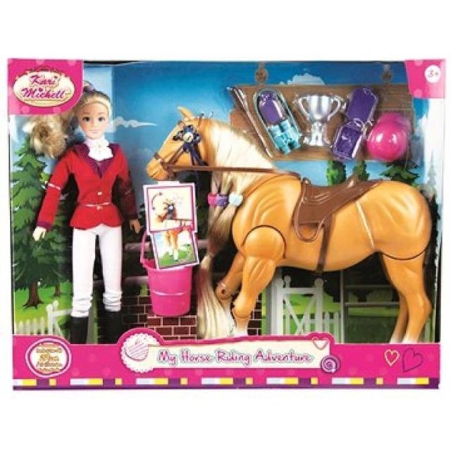 Obrázek produktu Kari Michell panenka žokejka s koněm