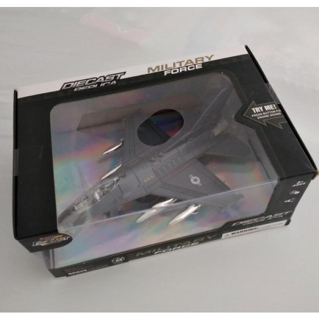 Obrázek produktu Stíhačka kovová se světlem a zvukem 20cm, šedá