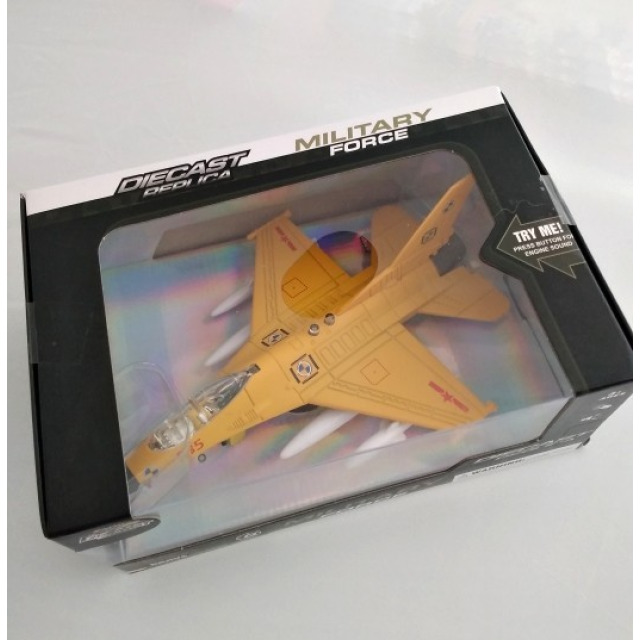 Obrázek produktu Stíhačka kovová se světlem a zvukem 20cm, žlutá