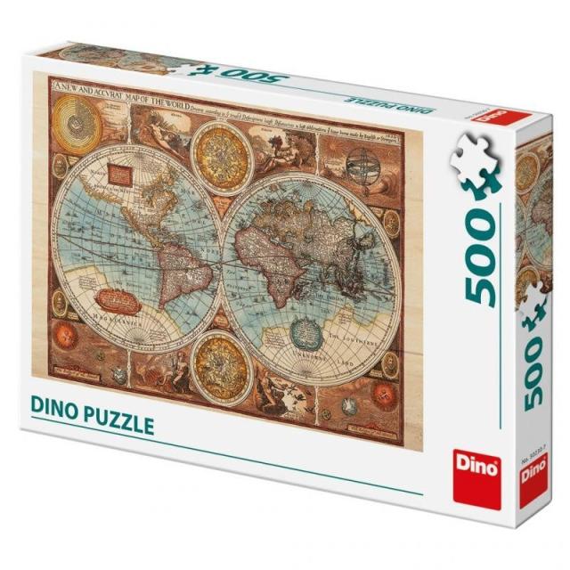 Obrázek produktu Puzzle Mapa světa z roku 1626, 500d. Dino