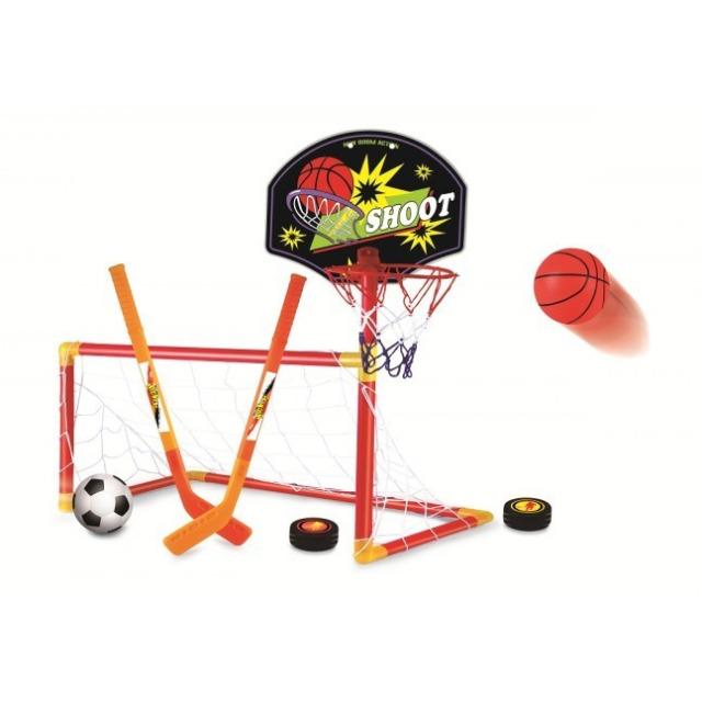 Obrázek produktu Herní sada Basketbal, Fotbal, Hokej 3 v 1