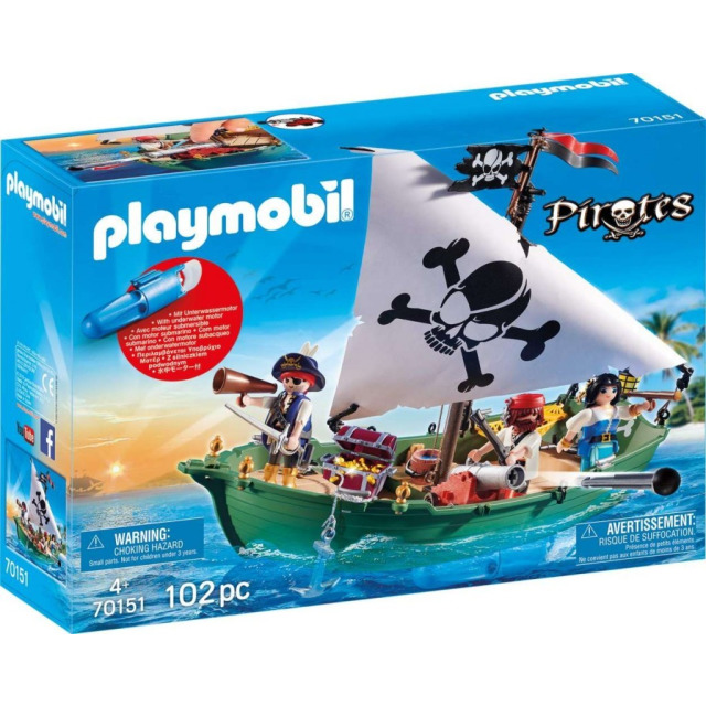 Obrázek produktu Playmobil 70151 Pirátská loď s motorem