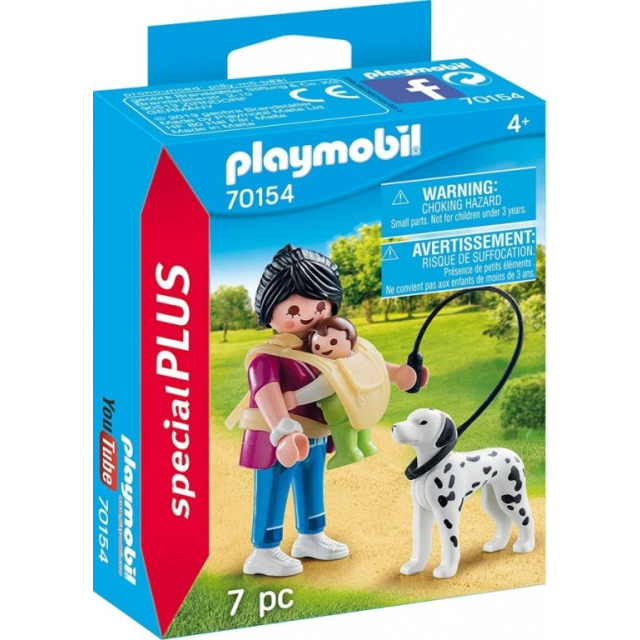 Obrázek produktu Playmobil 70154 Maminka s miminkem a pejskem