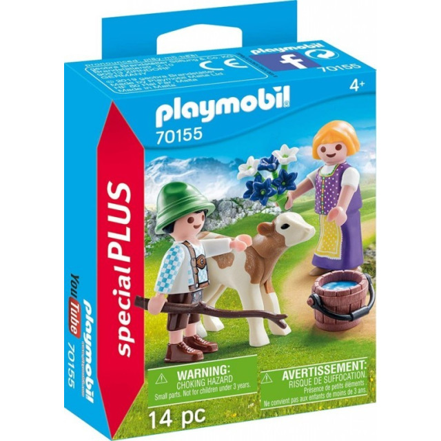 Obrázek produktu Playmobil 70155 Děti s telátkem na horách