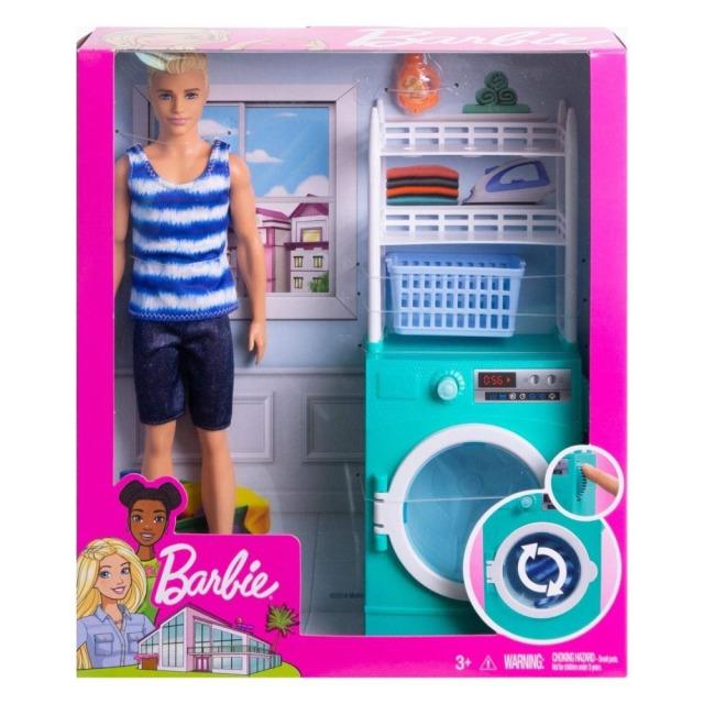 Obrázek produktu Barbie Ken s nábytkem - Automatická pračka, Mattel FYK52