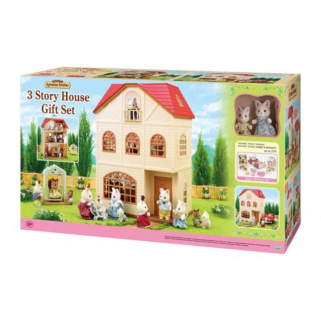 Obrázek produktu Sylvanian Families 2737 Dárkový set - Třípatrový dům s figurkami a příslušenstvím