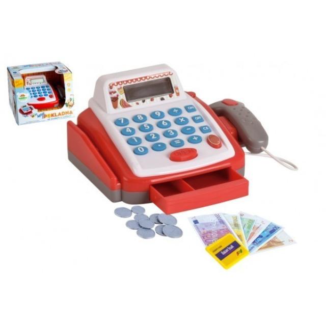 Obrázek produktu Dětská pokladna digitální s doplňky, světlo, zvuk, 18cm