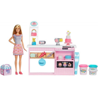 Obrázek 1 produktu Mattel Barbie Cukrářství herní set s panenkou, GFP59