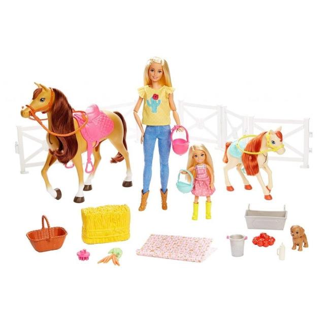 Obrázek produktu Mattel Barbie Herní set s koníky blondýnka, FXH15