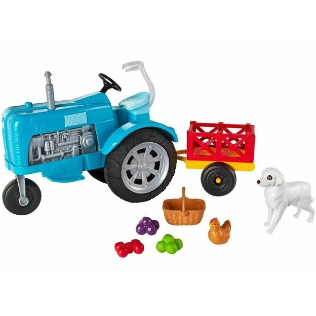Obrázek produktu Barbie Herní set Farma modrý traktor, Mattel GFF49