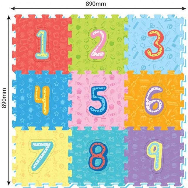 Obrázek produktu Pěnové puzzle Čísla 9ks, 32 x 32 cm