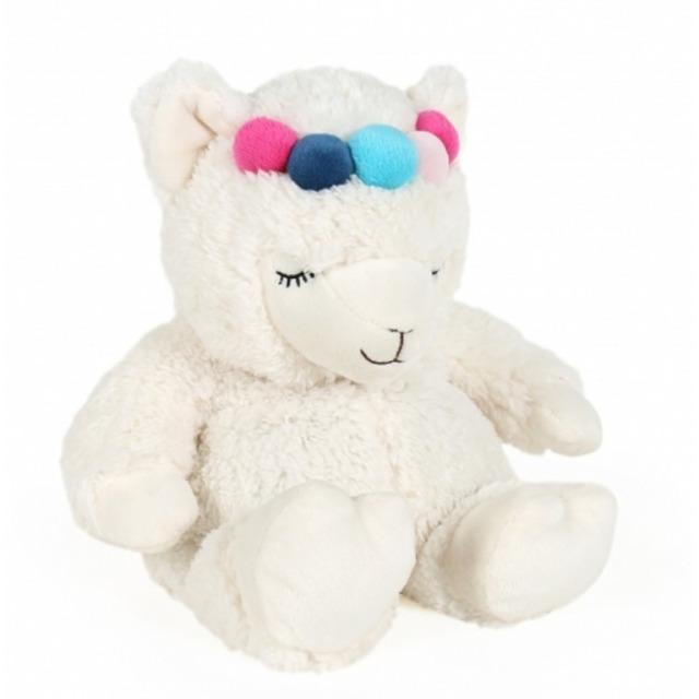 Obrázek produktu Hřejivá plyš mini Lama s čelenkou 25 cm