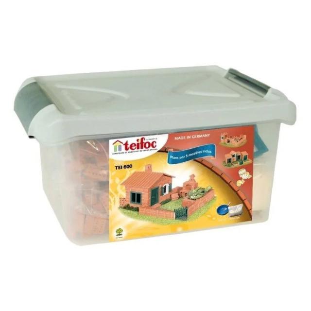 Obrázek produktu Dům z pravých pálených cihliček Raul II 280ks v plastovém boxu,Teifoc