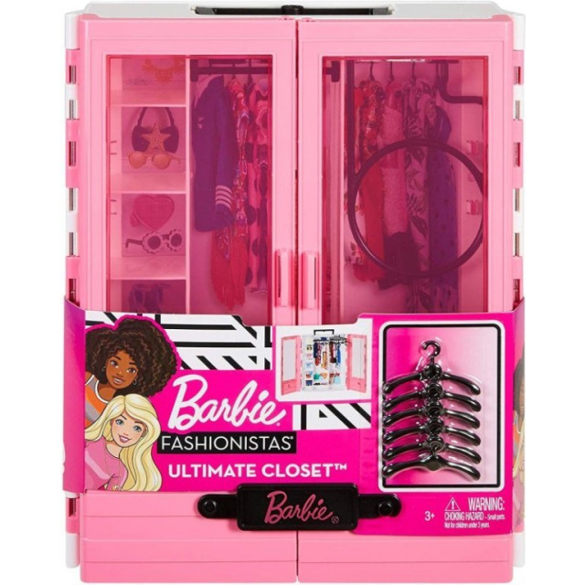 Obrázek produktu Barbie Fashionistas Šatní skříň, Mattel GBK11