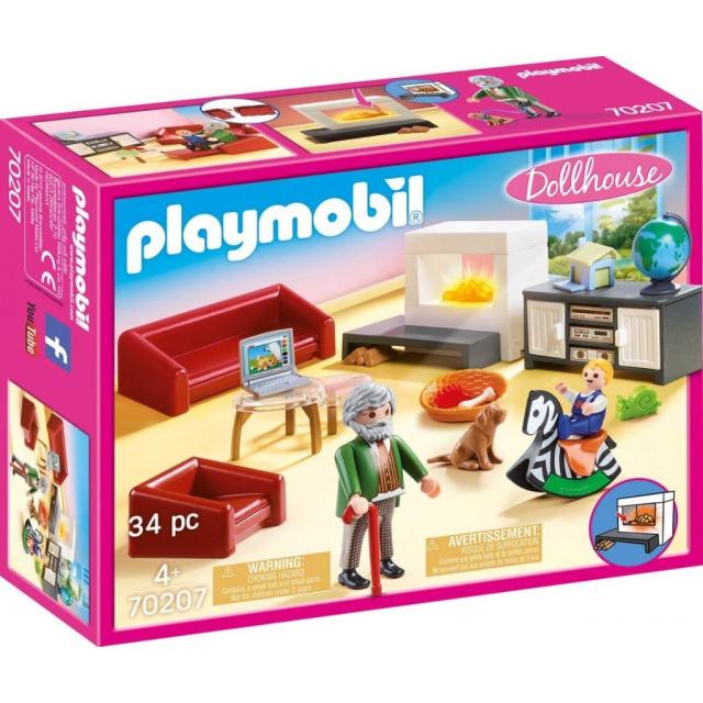 Obrázek produktu Playmobil 70207 Obývací pokoj s krbem