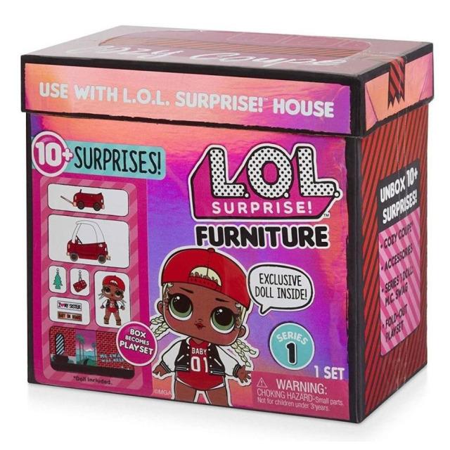 Obrázek produktu MGA L.O.L. SURPRISE Nábytek s panenkou: Autosalon & M.C. Swag