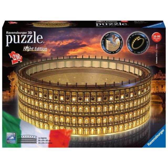 Obrázek produktu Ravensburger 11148 Puzzle 3D Koloseum Noční edice 216 d.