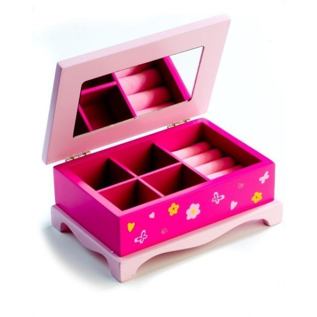 Obrázek produktu Zrcadlo dřevěná šperkovnice Princess